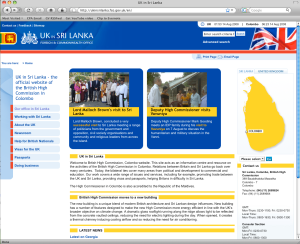 British High Commission website under Firefox 3