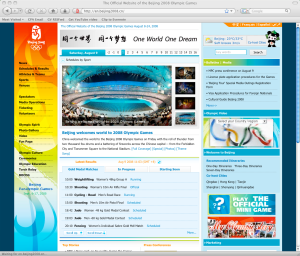 Olympics on Firefox. Click for larger image.