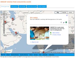 Google Maps and UNICEF