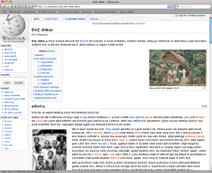 Sinhala on Wikipedia. Click for larger image.