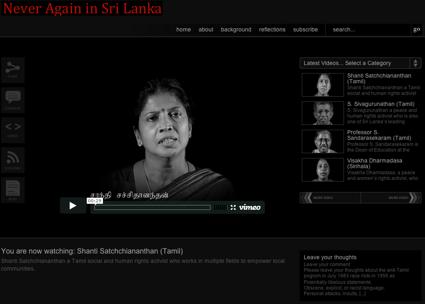 Never Again in Sri Lanka
