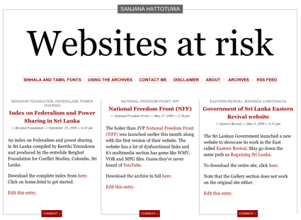Websites at risk