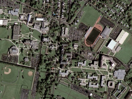 Kutztown University in Pennsylvania taken by GeoEye-1