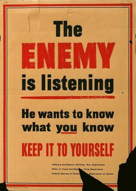 WWII spy poster courtesy Ars Technica